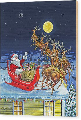Merry Christmas To All Wood Print by Richard De Wolfe