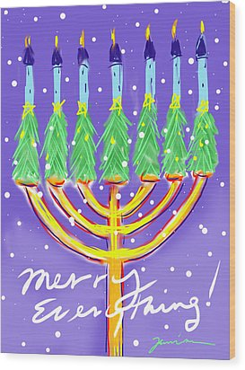 Merry Everything Wood Print by Jean Pacheco Ravinski
