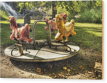 Wood Print featuring the photograph Merry-go-round by Tamyra Ayles