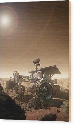 Wood Print featuring the digital art Mers Rover by Bryan Versteeg