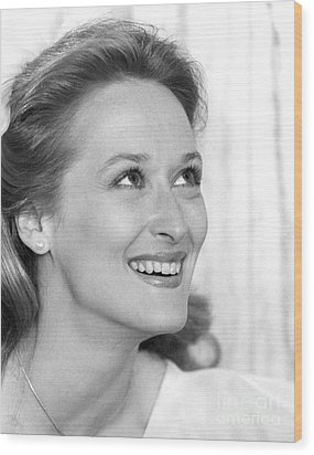 Meryl Streep (b.1949) Wood Print by Granger