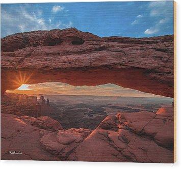 Mesa Arch At Sunrise 3, Canyonlands National Park, Utah Wood Print