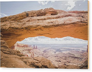 Mesa Arch Sunrise Wood Print by JR Photography