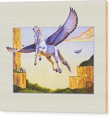 Mesa Pegasus Wood Print by Melissa A Benson