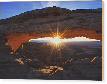 Mesa Sunrise Wood Print by Chad Dutson