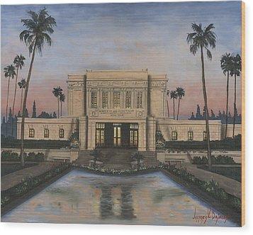 Mesa Temple Wood Print by Jeff Brimley