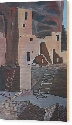 Mesa Verde 2 Wood Print by Cher Devereaux