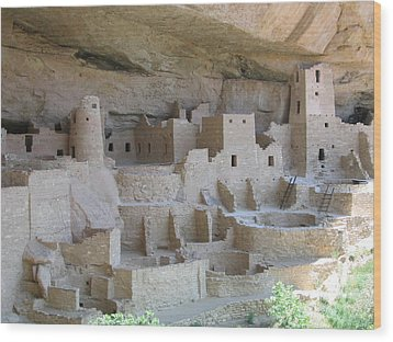 Wood Print featuring the digital art Mesa Verde Community by Gary Baird
