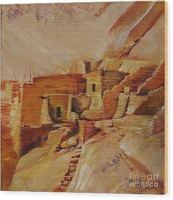 Mesa Verde Wood Print by Summer Celeste
