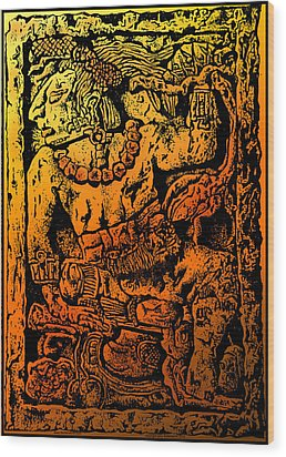 Mesoamerican  Mayan Figure Eight Century Mexico Wood Print by Larry Butterworth