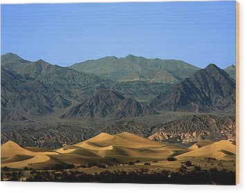 Mesquite Flat Sand Dunes - Death Valley National Park Ca Usa Wood Print by Christine Till