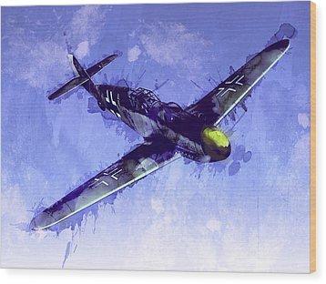 Messerschmitt Bf 109 Wood Print by Michael Tompsett