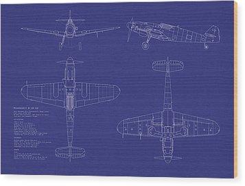 Messerschmitt Me109 Wood Print by Michael Tompsett