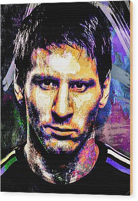 Messi Wood Print by Svelby Art