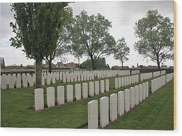 Wood Print featuring the photograph Messines Ridge British Cemetery by Travel Pics