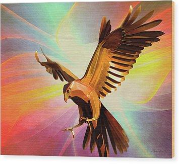 Metal Bird 1 Of 4 Wood Print