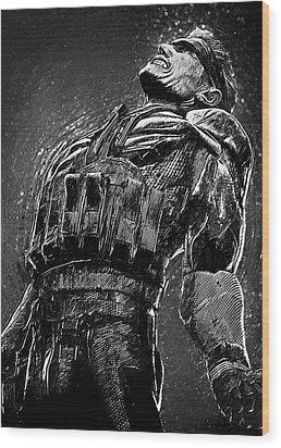 Metal Gear Solid Wood Print by Taylan Apukovska