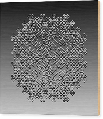 Metallic Lace Cxxix Wood Print by Robert Krawczyk
