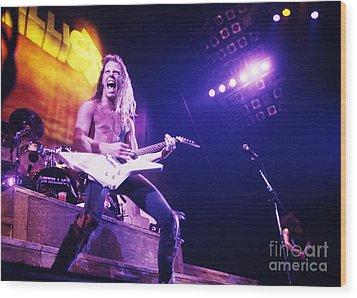 Metallica 1986 James Hetfield Wood Print by Chris Walter
