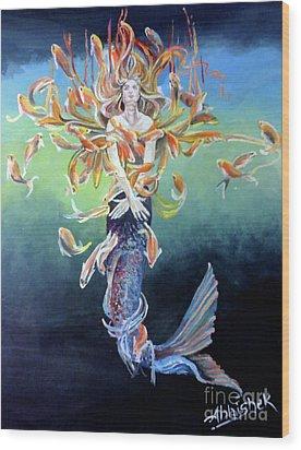 Metamophism ... Jalpari Wood Print by Abhishek Chauhan