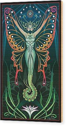 Metamorphosis Wood Print by Cristina McAllister