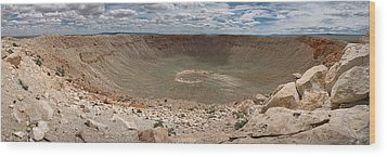 Meteor Crater Wood Print by Ryan Heffron