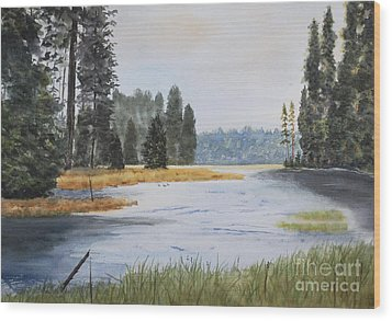 Metolius River Headwaters Wood Print by Stanton Allaben