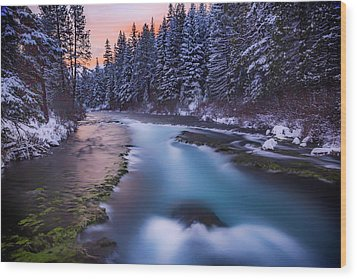 Wood Print featuring the photograph Metolius Sunset by Cat Connor
