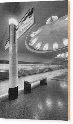 Metro #1591 Wood Print by Andrey Godyaykin