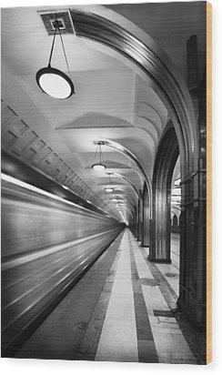 Metro #5147 Wood Print by Andrey Godyaykin