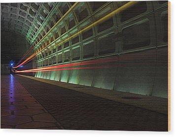 Metro Lights Wood Print
