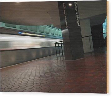 Metro Motion Wood Print by Sean Owens