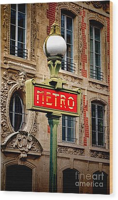 Metro Wood Print by Olivier Le Queinec
