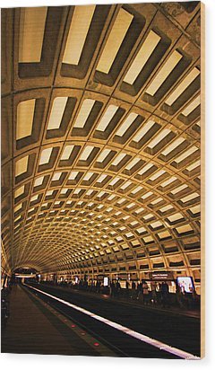 Metro Station Wood Print by Mitch Cat