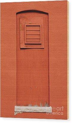 Metro Window Wood Print by Merrimon Crawford