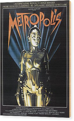Metropolis, 1927 Poster For 1984 Wood Print by Everett