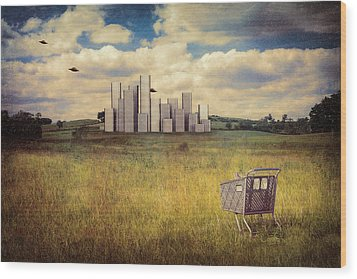 Metropolis Wood Print by Tom Mc Nemar