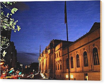 Wood Print featuring the photograph Metropolitan Museum Of Art Nyc by Vannetta Ferguson