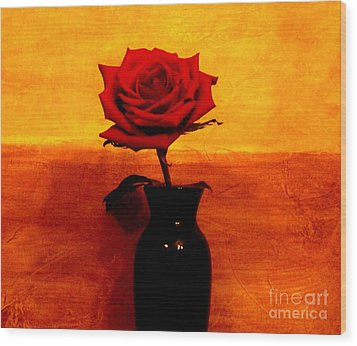 Mexicalli Rose Wood Print by Marsha Heiken