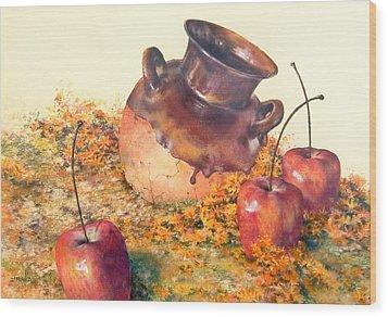 Mexican Apples 2 Wood Print by DEVARAJ DanielFranco