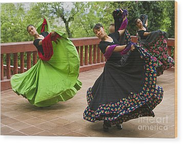 Mexican Dancers - San Miguel De Allende Wood Print by Craig Lovell