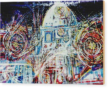 Mexican Fireworks Wood Print by Dale  Witherow