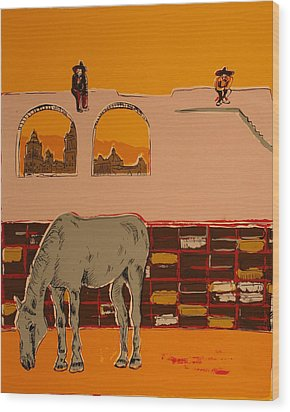 Mexican Landscape Wood Print by Biagio Civale