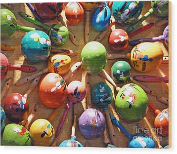 Mexican Maracas Wood Print by Methune Hively