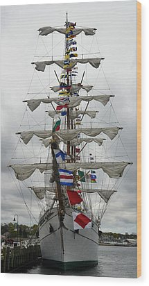 Mexican Navy Ship Wood Print