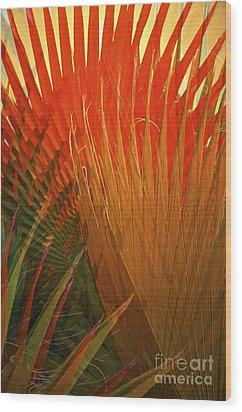Mexican Palm Wood Print by Gwyn Newcombe