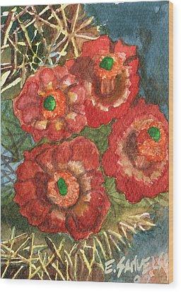 Mexican Pincushion Wood Print