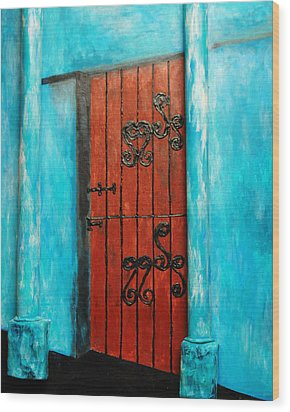 Mexican Turquoise Wood Print