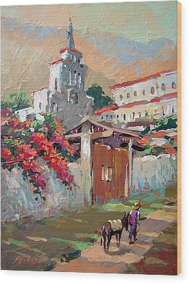 Mexican Village 1 Wood Print by Dmitry Spiros