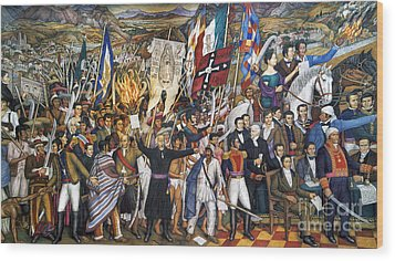 Mexico: 1810 Revolution Wood Print by Granger
